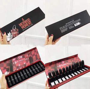 12 piezas de lápiz de labios estilo del juego de bala de labios hidratante labial atractivo 12 códigos de color conjunto de barra de labios belleza herramienta de maquillaje extravagante li Plump