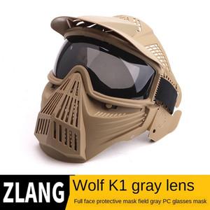 Grey PC pistola de água cor de bala rosto cheio de proteção da lente Transformer lente máscara protetora Transformadores CS campo capacete equipamento máscara