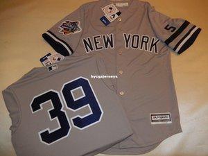 baseball barato NY # 39 Darryl Strawberry 1999 camisa Top Jersey GRAY Mens costurados camisas grandes e tamanho Alto XS-6XL Venda