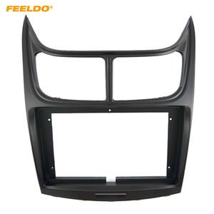 "FEELDO Car Audio Radio 2DIN 9"" Big Screen Fascia Frame Adapter For Chevrolet Sail 2011 DVD Dash Fitting Panel Frame Kit #6548"