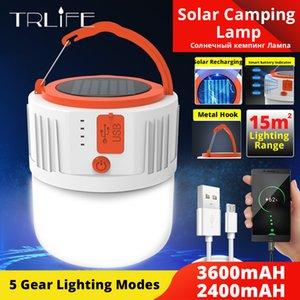 خيمة المحمولة الفوانيس الشمسية LED التخييم الخفيفة في الهواء الطلق مصباح الأنوار الطوارئ USB قابلة لإعادة الشحن باستخدام لمبة المنزل 5gears 280W 190W