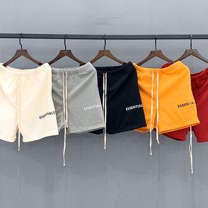 Модный туман Страх Божий Mesh Shorts High Street промежность кулиской Спортивные Повседневные брюки Основы Мужская мода