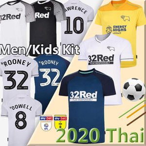 rooney 20 camisetas de fútbol 21 Derby County hogar lejos 2,019 2,020 hombres Camisetas de Fútbol MARRIOTT LAWRENCE Waghorn + niños uniforme de fútbol kit