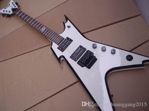 Free Shipping New Deanflying Flying Electric Guitar Made Of Solid Mahogany Wood In White 100529