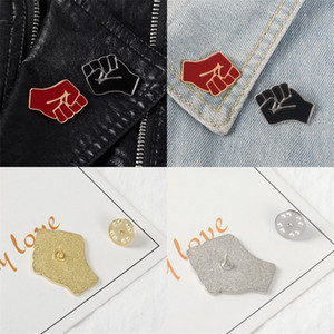 Raised Fist Brooches Red Black Pin Metals Brooch Clothes Accessories Small And Simple Beautiful Gift Hot Sale 1 68zb E2