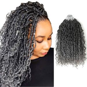 Extensions de cheveux synthétiques Crochet Cheveux Faux Locs River Locs Black Marron Blonde Rouge Ombre Couleur Tressant Curly