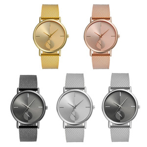 Fashion Mesh band Watches Women Simple Analog Quartz Wrist Watches Men Casual Wristwatch Creative Gifts 5 Colors