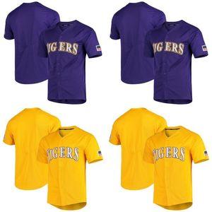 Hommes LSU Tigers NCAA Jersey 100% Cousu LSU Tigers vapeur Intouchable College Baseball Jersey Livraison gratuite S-XXXL