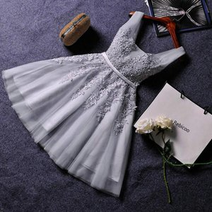 Elegant Pearl Pink Dresses Sexy Dress Short V Neck Appliques Beading Lace Up Knee-Length Graduation Party Gowns