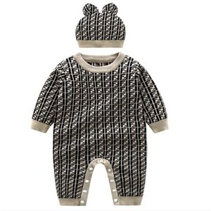 Warm Baby Rompers Autumn Winter Clothes Newborn Infant Boy Girl Knitted Sweater Jumpsuit Hooded Kid Toddler Outerwear and hat