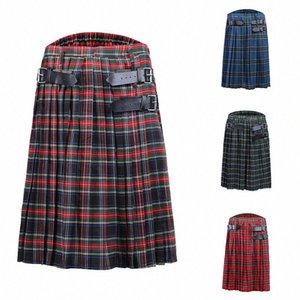 kilt Männer Rock für Männer Männer stirpe Shorts Scottish Herren Kilt Traditioneller Rock schottischer Oob #