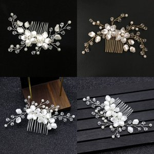 Brides Marriage White Pearl Hair Comb Wedding Accessories Bride Updo Interposing Combs Flower Modeling Headwear Hot Selling 7 5ml L1