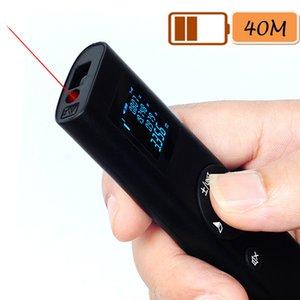 HIREED Portable USB Charging 40M Smart Digital Laser Distance Meter Range Rangefinder Mini Handheld Distance Measuring Meter T200603
