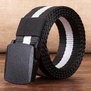 Belt Man Women Automatic Nylon Belt Buckle Fans Tactical Canvas For Men and Women ceinture femme Fashion