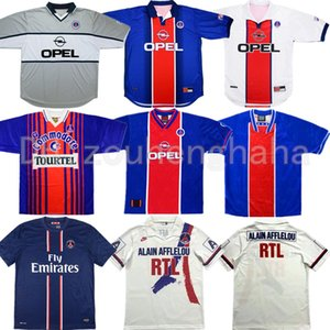 90 92 Retro Paris ANELKA OKOCHA WEAH football Jersey 2012 13 93 94 95 96 98 99 2001 BECKHAM IBRAHIMOVIC ancienne chemise de football