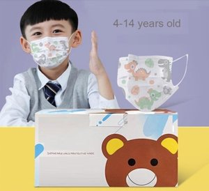 Kids Masks Individual pack Designer Facemask Fashion Child face Mask Children 3 layers Disposable Mask Kid Protective Mouth Boys Girls