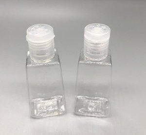 30ml Hand Sanitizer bottiglia Sanitizer imballaggio Bottiglie vuote trasparente trapezoidali Box PET Flip-Gel Mani Bottle Cap DHL liberano la nave
