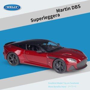 Diecast Legierung Asn Martin DBS Superleggera-Sport-Auto-Modell-Spielzeug, 01.24 Ornament, Weihnachtskind-Geburtstags-Jungen-Geschenk, 24095, Sammeln, 2-2