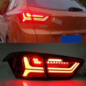 2016 2017 2018 Işıklar DRL Tuning Car Aksesuarları için Hyundai ix25 Creta Running 1 Set Otomobil için LED Arka Lamba Kuyruk Işıklar Sis Lambaları Gündüz