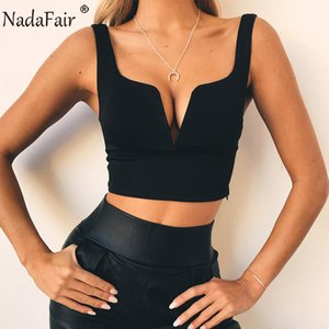 Nadafair Neon Backless Sleeveless V Neck Wrap Tank Tops Women Black Red White Green Summer Casual Crop Tops Female