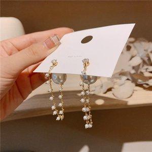 Cristallo Accessori Brincos nappa orecchini di goccia del partito delle donne Per elegante perla simulata MENGJIQIAO coreano New Fashion Jewelry