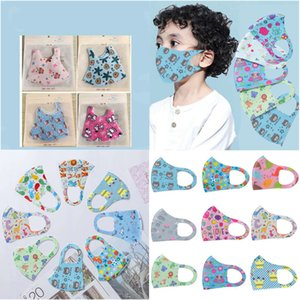 Stretch Mask Kids Face Mask designer Cloth Cartoon Character Face Cover Nose Face Mouth Protection Washable Reusable Mask