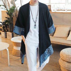 ni8Yq 2020 printemps et en été Windbreaker lin coton style linenChinese et lin coupe-vent à mi-longueur pour vêtements ethniques Han pour hommes un