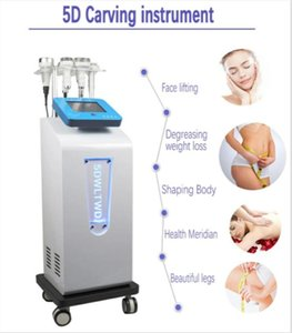 Newest Multi-function Face Lift Ultra 80 kHZ Cavitation 5D Carving Instrument Rf Vacuum body shaping Slimming machine fat blasting