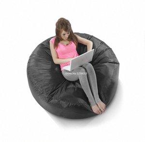 Nero Comfort all'aperto rotonda Bean Bag Bed, Stile libero Sit Sedia, 3 persone Sedie 0YiU #