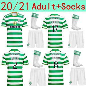 20 21 Celtic adult kit Soccer Jerseys EDOUARD 2020 2021 BROWN FORREST CHRISTIE Football Shirt GRIFFITHS Celtic MCGREGOR men set Jersey