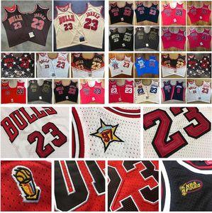 Männer Basketball ChicagoBulls23Michael 91 Rodman 33 Pippen Intensive Stickerei Mitchell & Ness Nostalgia Company Hard Classics-Spieler-Jersey