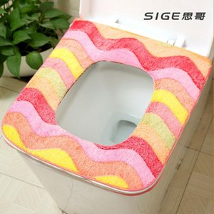 Square-adhesive fastener toilet mat bedpan washer pu universal household toilet seat cushion