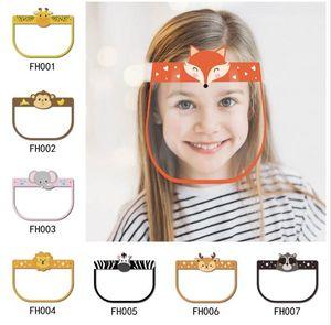 Styles Kinder Sicherheitsgesichtsschutz Transparente Vollgesichtsabdeckung Schutzfolie Anti-Fog-Premium-PET Face Shield Party Mask AHD685