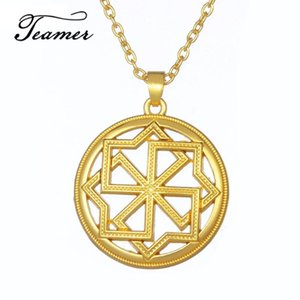 Teamer Ancient Slavic Amulet Maxi Power Necklace Molvinets Pendant Churinga Periapt  Sliver Wicca Jewelry for Man Woman