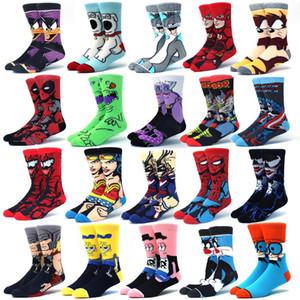 Erkekler Çorap Moda Erkekler Anime Komik Çorap Hip Hop Kişilik Anime Çorap Karikatür Moda Skarpety Yüksek Kalite Dikiş Desen
