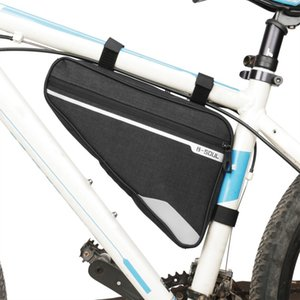 Mountain Bike Front Tube Frame Bag Large Capacity Triangle Polyester Waterproof Cycling Bicycle Bags MX200717