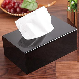 1PC Acrylic Tissue Box Napkin Holder Tissue Paper Boxes Towel Dispenser For Restaurant Tissu Box Cover Boite A Mouchoir