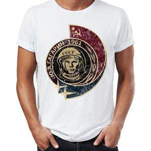 Мужчины S T Shirt Показывая Юрий Гагарин первым человеком, в космос Советский Союз Астронавт Достижение
