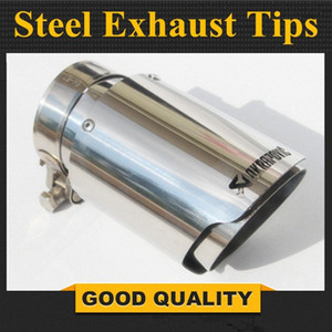 1pcs Car Styling en acier inoxydable 304 AK Akrapovic Silencieux fin tuyau Silencieux tuyau d'échappement pour obtenir des conseils d'échappement Universal gWY6 #
