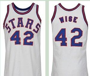 mulheres costume Homens Jovens nº 24 Ron Boone # 42 WILLIE WISE 1971-1972 Retro Road Home Jersey tamanho S-4XL ou personalizado qualquer nome ou número de camisa