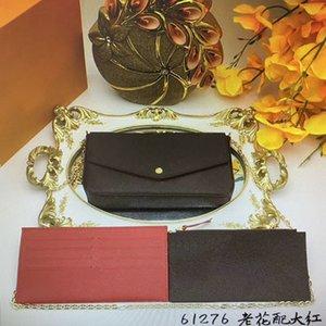 M61276 POCHETTE FELICIE Moda Borse catena della spalla delle donne della borsa mini della frizione raccoglitore della carta 3pcs supporto della borsa in pelle Croce Body Bag 61276