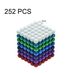 5mm 252PCS 지적 개발 스트레스 릴리프 7 색 자석 공 자석 사무실 장난감 자석 조각 Backyballs 선물