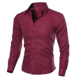 Rebicoo Autumn Men's Shirts Men Clothes Slim Fit Man Long Sleeve Shirt Male Plaid Cotton Casual Men Shirt Social Plus Size S-5XL
