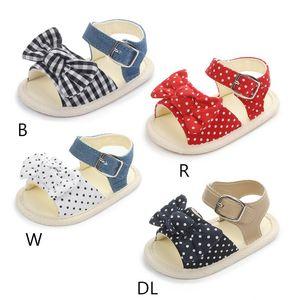 Enfant en bas âge Bébés filles Sandales Bow pois Princess Party Sandales de plage d'été Chaussures pour bébé Chaussures bébé fille