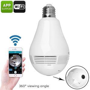 حار LED لمبة الضوء WIFI كاميرا 360 منزل كاميرا لاسلكية درجة لمبة مصباح فيش بانورامي مراقبة الأمن كاميرا موبايل APP تسيطر