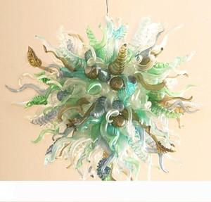 Natale decorazione colorata Pendant Light Glass Spear e Leaf Shape America del lampadario appeso lampada contemporanea Blown Glass Chandelier