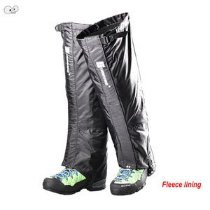 Doublure polaire thermique étanche neige Legging guêtres camping en plein air Randonnée Escalade Trekking Ski Boot Chaussures Jambière Cover
