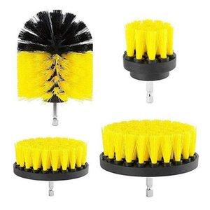 4PCS Drill Bristle Scrubber Brush Full Power Cleaning Tools Scrubber Car Tires Nylon Home Turbo Scrub Carpet Glass Dropshipping T200628