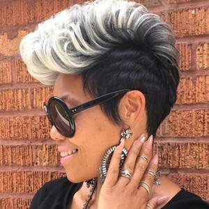Vendita calda Bob Style Brevi morbidi arricciatura parrucca parrucca naturale nera piena parrucche sintetiche per le donne nere JF0001