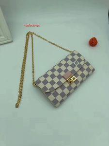 #46589 Genuine Leather Pochette Felicie 3pcs L Brand V Presbyopic Women Wallet Fashion Chain Shoulder Bag Pochette Mobile Card Holder Purse